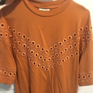 Top shop perforated tunic